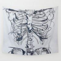 bones Wall Tapestries featuring Bones by Kayleigh Kirkpatrick