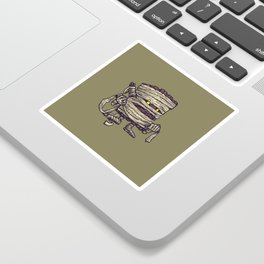 The Mummy Log Sticker