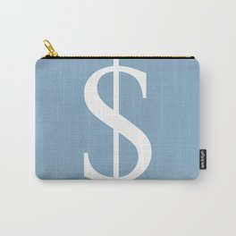 dollar sign on placid blue color background Carry-All Pouch