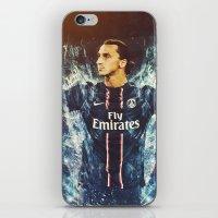 zlatan iPhone & iPod Skins featuring Zlatan Ibrahimović PSG by Max Hopmans / FootWalls