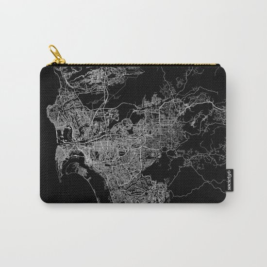san diego map Carry-All Pouch
