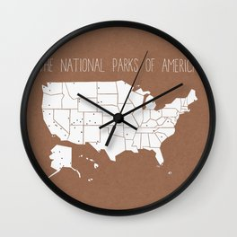 The Hand-Painted National Parks of America Wall Clock