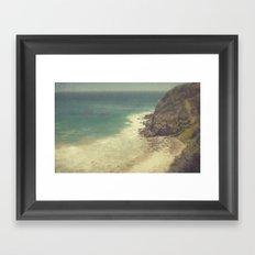 Vintage Malibu Beach Framed Art Print