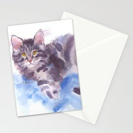 Azure Purr Stationery Cards