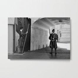 Swiss Guard at the Vatican 2 Metal Print