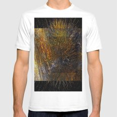geometric design exsplosion Mens Fitted Tee White MEDIUM