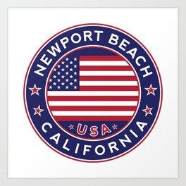Newport Beach, California Art Print