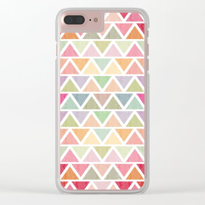 Lovely geometric Pattern III Clear iPhone Case