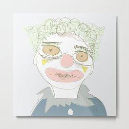 Walter as a Clown Metal Print