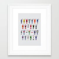 transformers Framed Art Prints featuring Transformers Alphabet by PixelPower