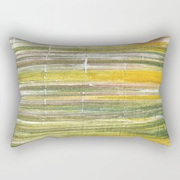 Moss green abstract watercolor Rectangular Pillow