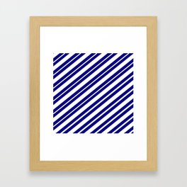 TEAM COLORS 1...Blue and white Framed Art Print