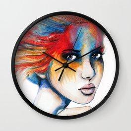 Colourblind // Fashion Illustration Wall Clock