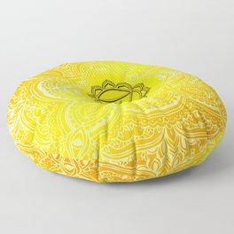 Solar Plexus Chakra Mandala Floor Pillow