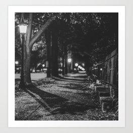 Urban / Streetlight / Night / Photography Art Print