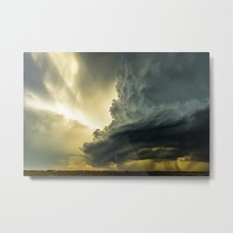 Supercell - Massive Storm Over the Great Plains Metal Print