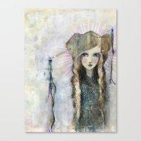 jane davenport Canvas Prints featuring Gesso Geisha by Jane Davenport by Jane Davenport