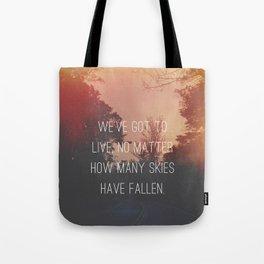 Fallen Skies Tote Bag