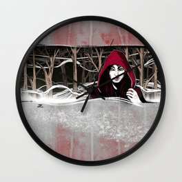 Not So Little Red Riding Hood Wall Clock