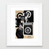 marc johns Framed Art Prints featuring Jasper Johns by Ira Carter