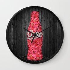 Flower Coke Wall Clock