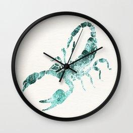 Green Shibori Scorpion  Wall Clock
