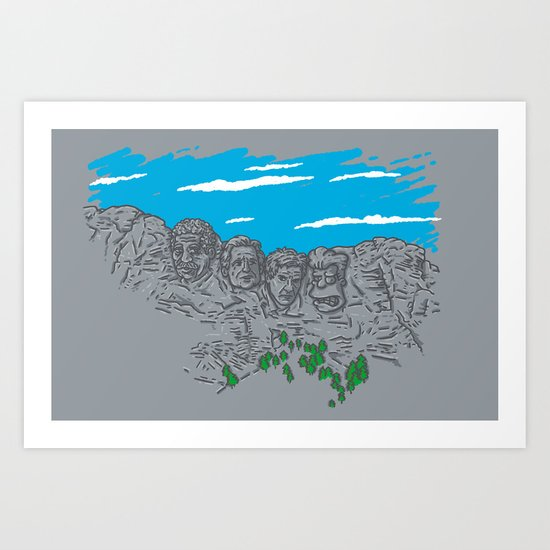 Presidents on a Mountain Art Print