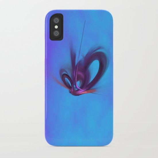Purple Hearts iPhone Case