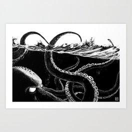 Kraken Rules the Sea Art Print
