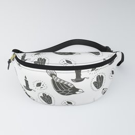 Bird and Candle Fanny Pack