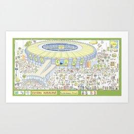 Maracana Soccer Arena, Rio de Janeiro, Brazil Art Print