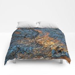 Charred Wood Texture Comforters