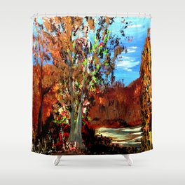 The Forest in Fall Shower Curtain