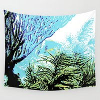 coral Wall Tapestries featuring Coral by Stephen Linhart