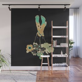 Love Stoned Cowboy Boots - Emerald, Cream, Black Wall Mural