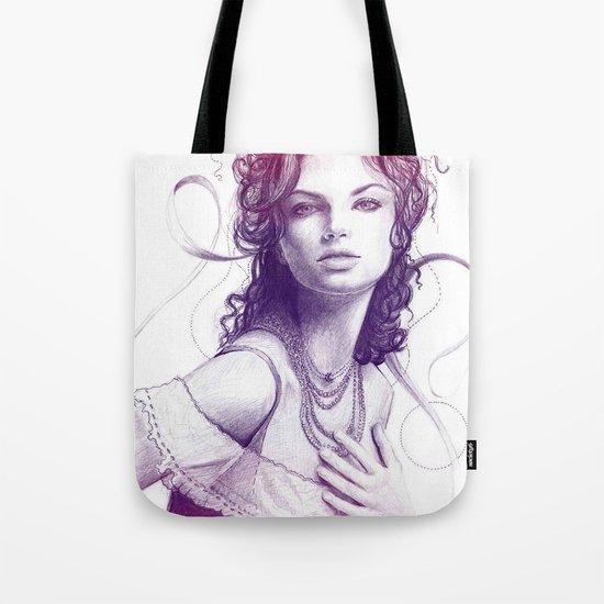 Beautiful Girl Portrait Tote Bag