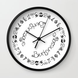 Burtonesque Circle Wall Clock