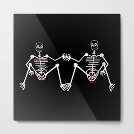 Skeleton Male & female Metal Print