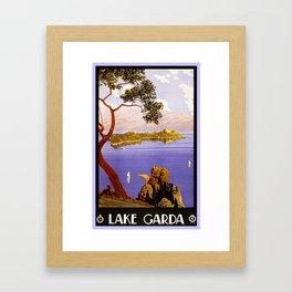 1920 Lake Garda Italy Framed Art Print