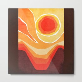 Modern Mid-Century Desert Sunset Metal Print