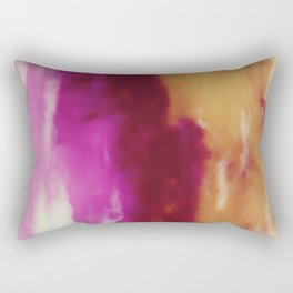 Cherry Rose Painted Clouds Rectangular Pillow