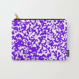 Small Spots - White and Indigo Violet Carry-All Pouch