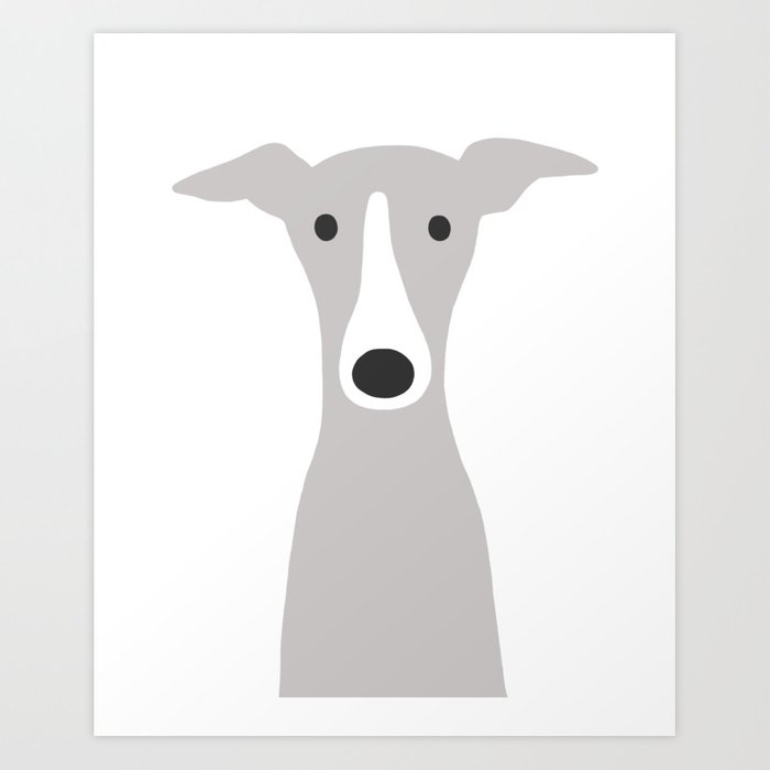 Greyhound Puppy Art Print Fashion Art Print Italian Greyhound Illustration Art Print  Fashion Illustration Wall Art Whippet Art Print