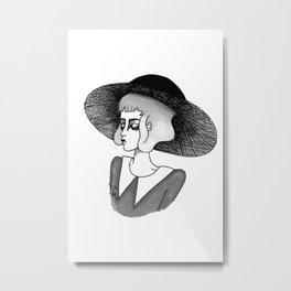 spooky girl Metal Print