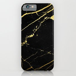 Black-Gold Marble Impress iPhone Case