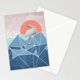 Polar Bear live in North Pole Stationery Cards