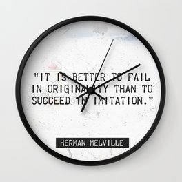 Herman Melville quote 2 Wall Clock