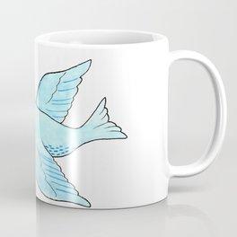 Blue Bird with Violet Coffee Mug