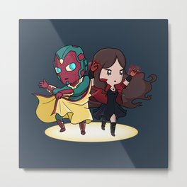 Vision & The Scarlet Witch Metal Print
