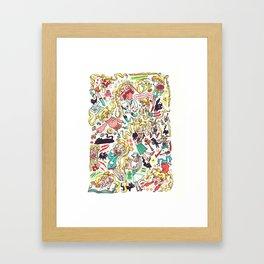 "Sailor Moon- ""Doodle Moon"" Framed Art Print"